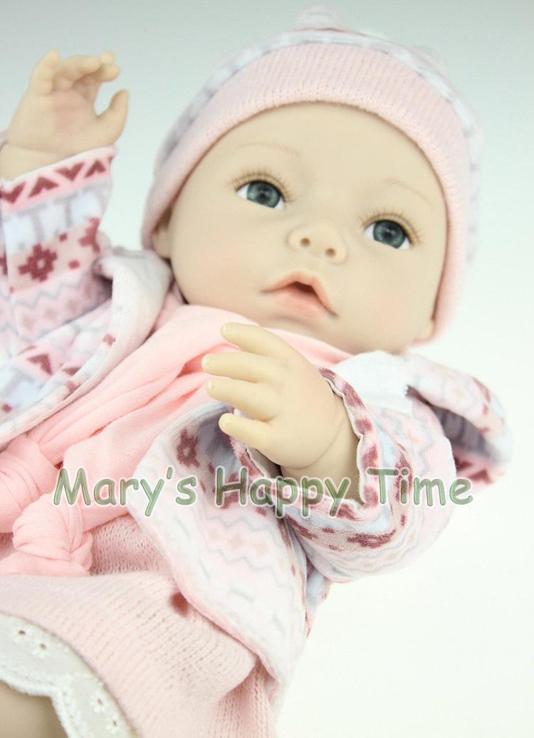 40cm silicone baby reborn dolls toys for sale high end handmade reborn babies doll kits girls. Black Bedroom Furniture Sets. Home Design Ideas