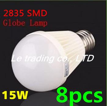 8pcs/lot E27 15W 2835SMD AC85-265V Bubble Ball Bulb High power Energy Saving Ball LED Light Bulbs Lamp Lighting Free shipping
