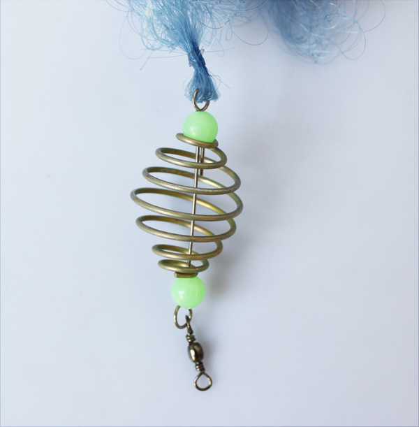 Cheap Copper Spring Shoal Fishing Net Small Mesh Netting Luminous Beads Swivel Fishing Tools(China (Mainland))