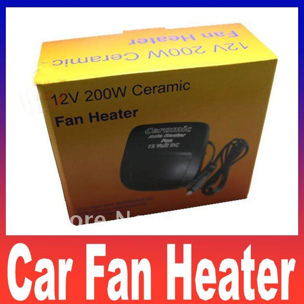 car fan heater ceramic car electric heater warm air conditioner portable 12v 200w Free shipping(China (Mainland))