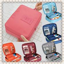 New 2016 Nylon Multifunction Makeup Organizer bag Women Cosmetic bags Ourdoor Travel Bag Handbag Bolsas Free shipping X10