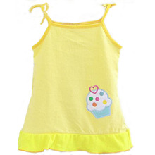 Multi-colors Baby Cotton Vest Summer Dresses Kids Infant Clothing For Girl Children's Dress Causal Clothes w617
