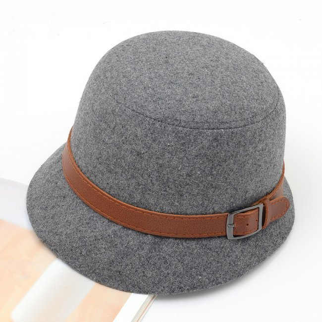 Fashion Vintage Autumn Winter Adult Women Fedora Hat Dome Hat England Vintage Bowler Caps Multicolor Ladies Headwear Bucket Hat(China (Mainland))