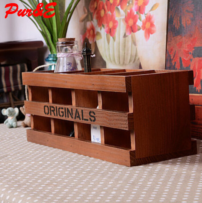 Creative home furnishing ornaments wooden craft gift pencil box spot goods children storage box for toys HDC0340(China (Mainland))