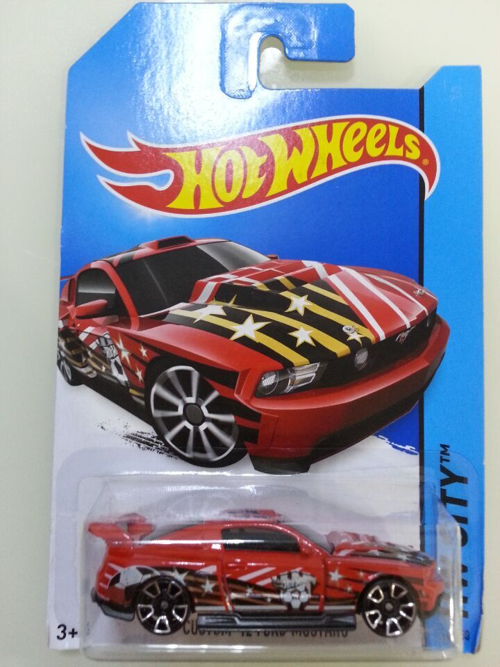 Free Shipping car model, 1:64 car toys, children's toys, alloy car Hot Wheels RED CUSTOM 12 FORD MUSTANG(China (Mainland))