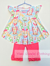 20sets/lot Butterfly Printing Pink Girl Clothes