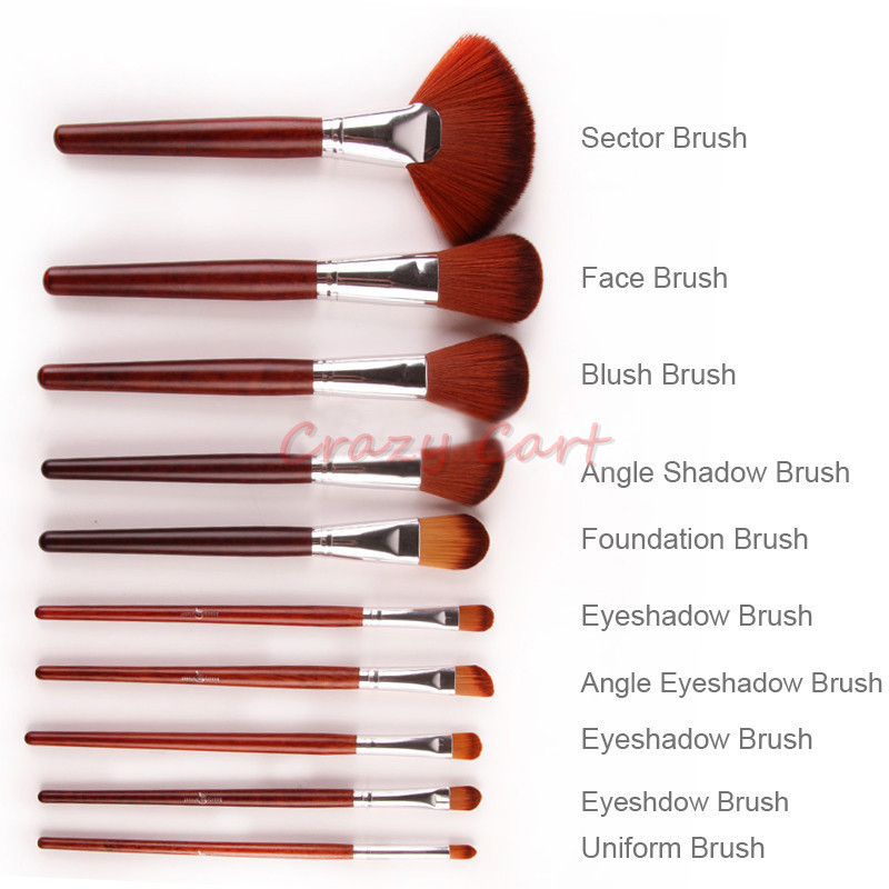Foundation brush set oval