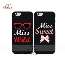 2pcs/lot Best Friends Forever His and Hers Mr.and Mrs M89053 Lover Phone Cases For iphone6/6sSE Case Cover Give love a gift
