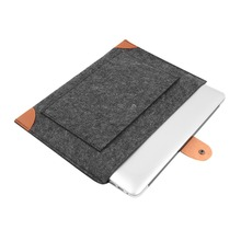 "2016 Hot! Fashion Laptop Cover Case For Macbook Pro/Air/Retina Notebook Sleeve bag 13"" 15""  Wool Felt Ultrabook Sleeve Pouch Bag(China (Mainland))"