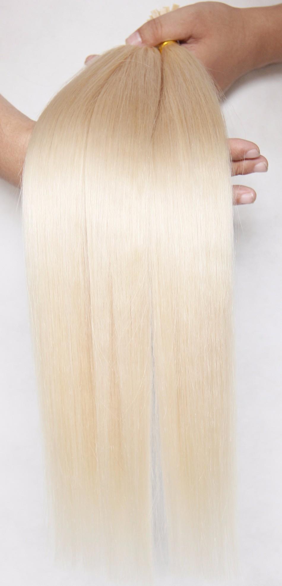 9A Brazilian Flat Tip Hair Extensions Straight Double Drawn Virgin Hair Pre Bonded Hair Extension Keratin fusion hair extensions