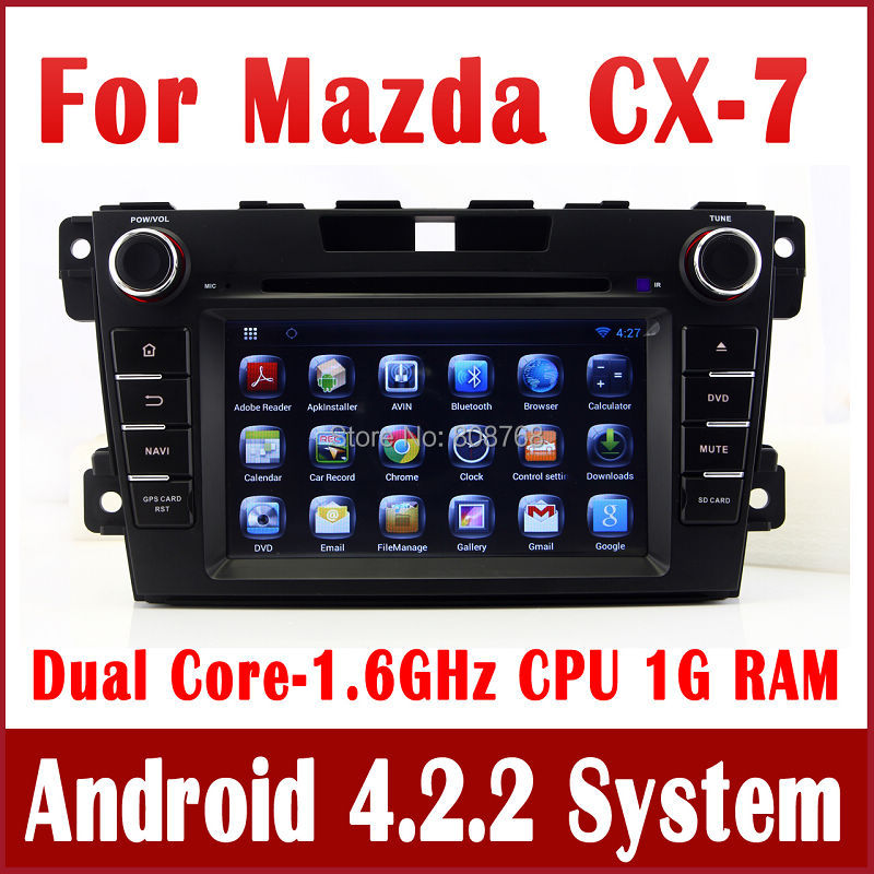 Android 4.2 GPS Navigation Car DVD Player for Mazda CX7 CX-7 2007 2008 2009 2010 2011 2012 2013 with Radio TV BT USB DVR 3G WIFI(China (Mainland))