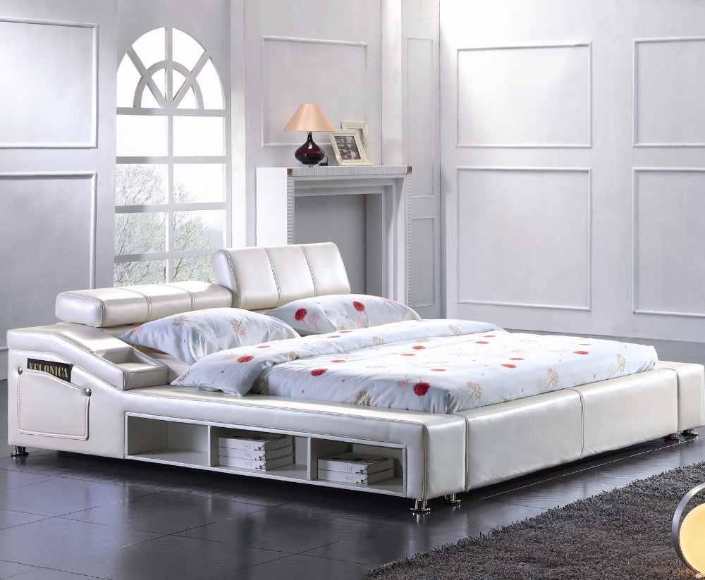 storage contemporary modern leather soft bed king - King Bed Frames Cheap