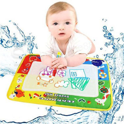 29X19cm 4 color Mini Water Drawing Mat Aquadoodle Mat&1 Magic Pen/Water Drawing board/baby play mat Free shipping(China (Mainland))