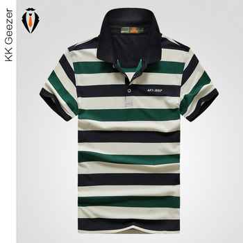 Striped Polo Shirt Top Quality Fashion Men 2016 Summer Short Sleeve Turn-down Collar Polos Hombre Men's Casual Brand Golf POLO