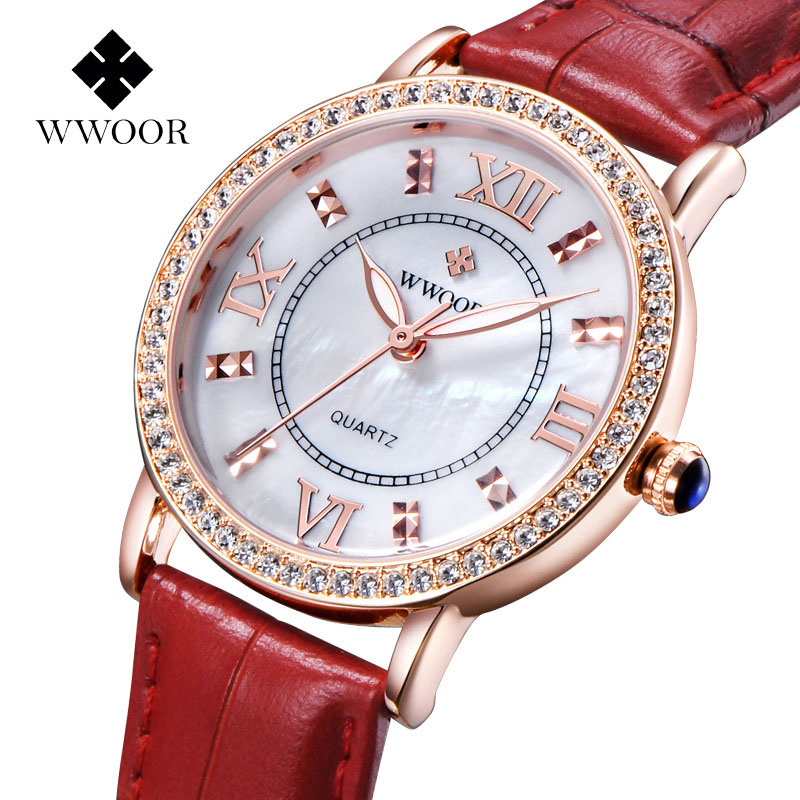 Brand WWOOR women's watch quartz-watch quartz watch clock watches women ladies vintage relogio feminino crystal shell box g3(China (Mainland))