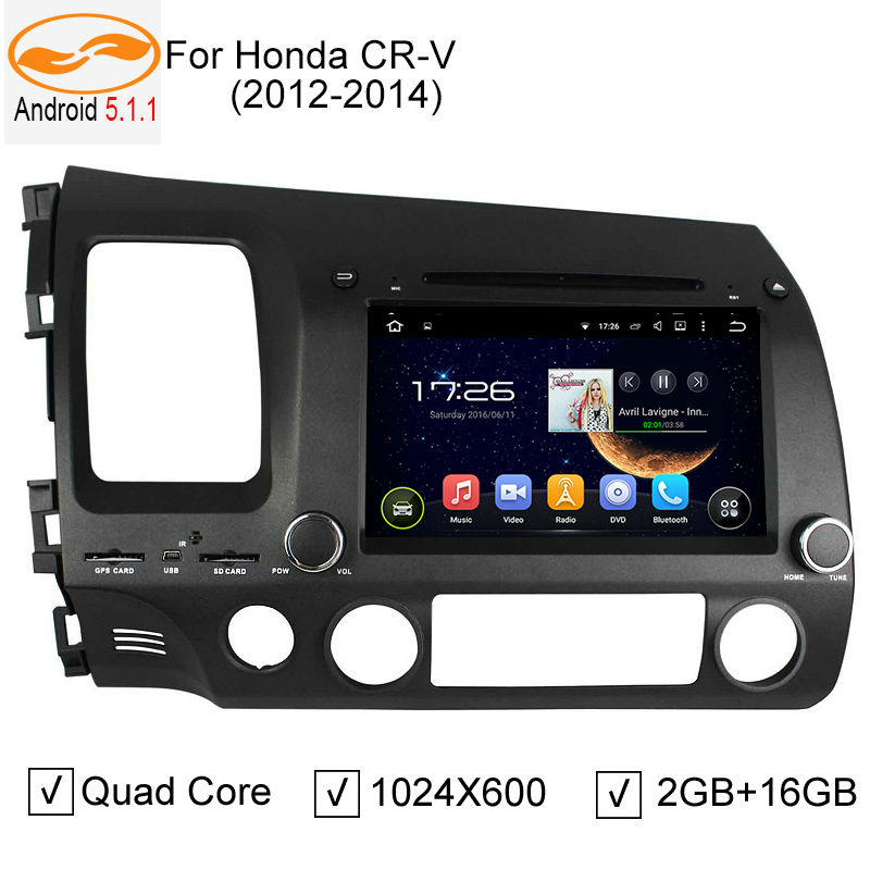 """8"""" Android 5.1.1 Car DVD Player for Honda Civic 2006-2011 with GPS Radio BT TV USB SD 3G / 4G Wifi Steering Wheel Control(China (Mainland))"""