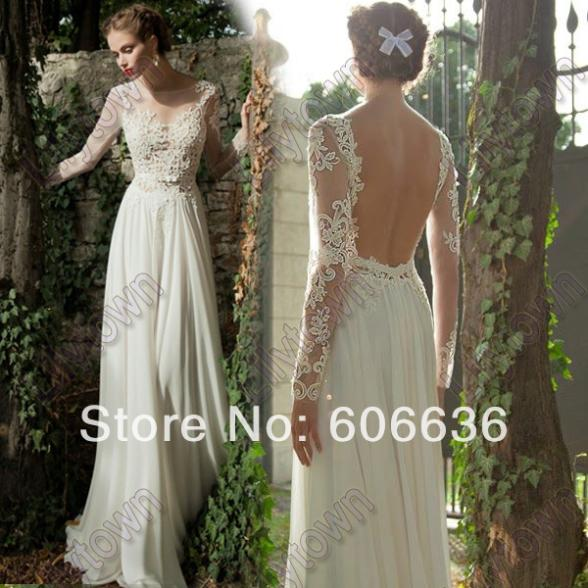 Wedding dresses backless with sleeves bridesmaid dresses for Backless wedding dresses with sleeves