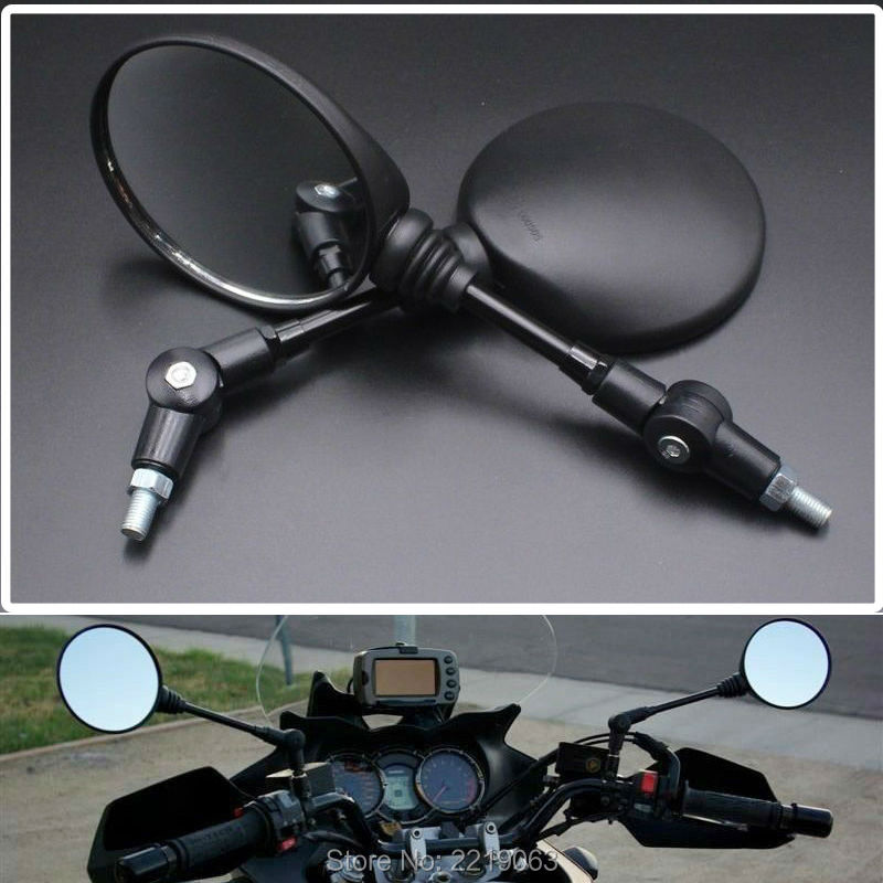 Custom Black Universal Folding Motorcycle Mirror motorbike Side Mirrors Rearview Mirror 8mm 10mm For yamaha Honda Suzuki(China (Mainland))