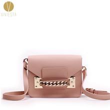 GENUINE LEATHER CHAIN MINI ENVELOPE BAG - Women's 2016 New Brand Fashion Cute Small Shoulder Clutch Crossbody Bag Purse Handbag(China (Mainland))
