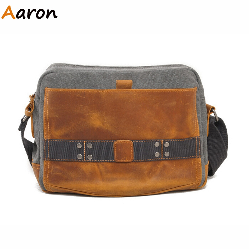 Aaron - Carteras Marca Retro Patchwork Cotton Canvas Unisex's Messenger Bags,Fashion Casual Outdoors Teen's Trip Shoulder Bolsa
