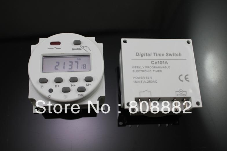 AC 110V Digital LCD Power Programmable Timer Time Switch Relay 16A * - suki N's store
