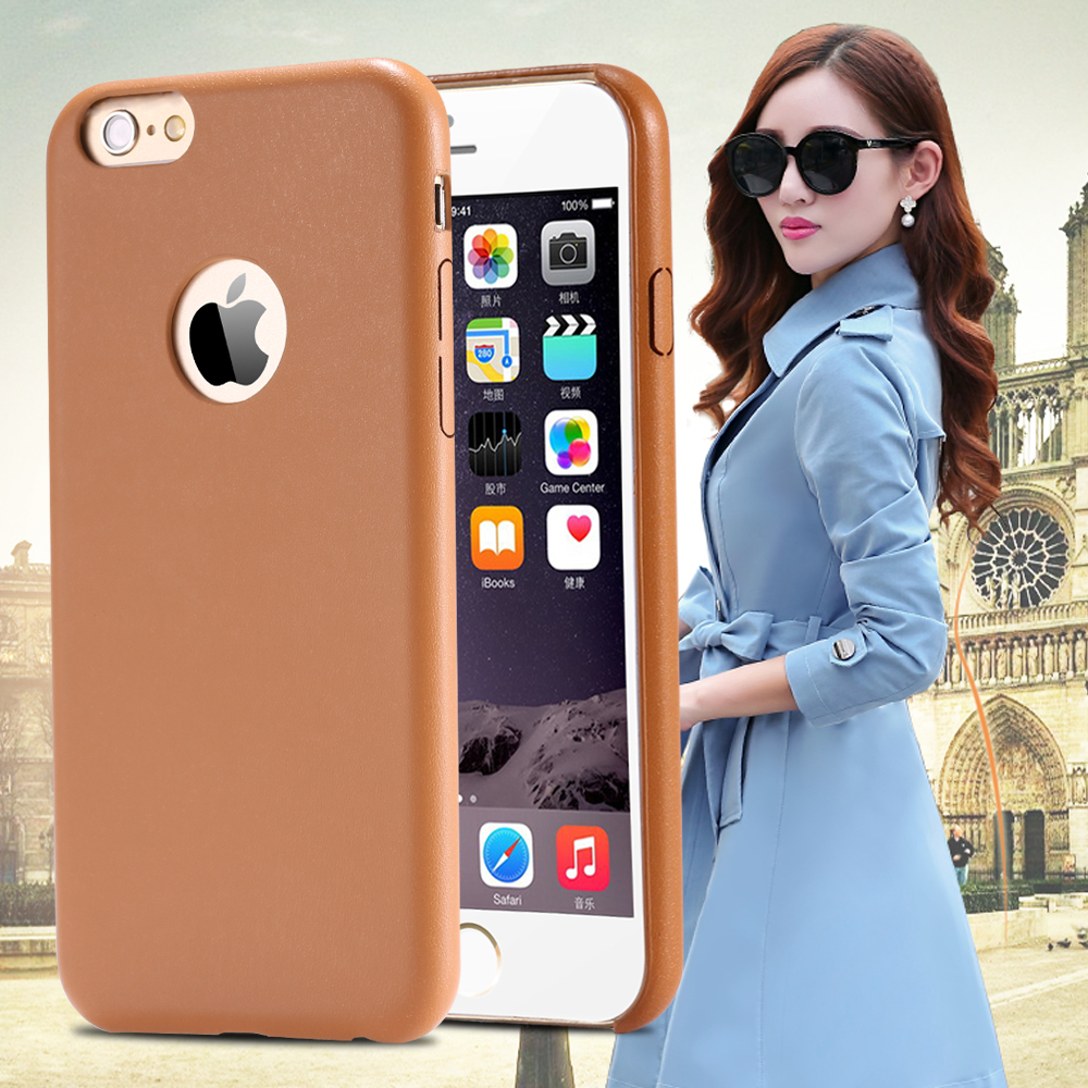 For Iphone 6 Hard Back Original Case Gold Luxury PU Leather Case For Iphone 6 4.7inch Caseology Vibrant Trendy Protective Cover(China (Mainland))