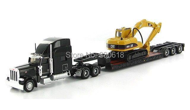 Caterpillar Cat Norscot Trail King Lowboy Trailer And Cat 315C L 1:87 Construction vehicles #55415(China (Mainland))