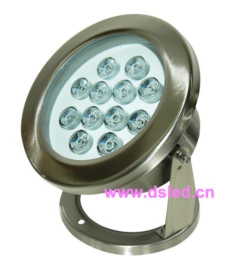 good quality,IP68,high power 12W LED swimming pool light,underwater LED light,12V DC,DS-10-39-12W,stainless steel,(China (Mainland))
