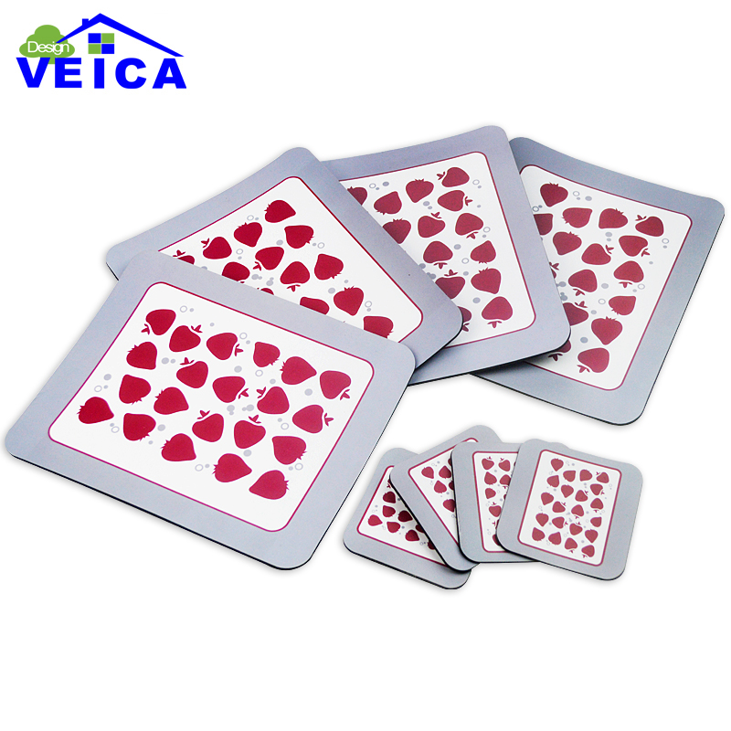 8pcs/lot Silicone Dining Table Placemat Coaster Kitchen Accessories Mat Cup Bar Mug Fruit Drink Pads(China (Mainland))