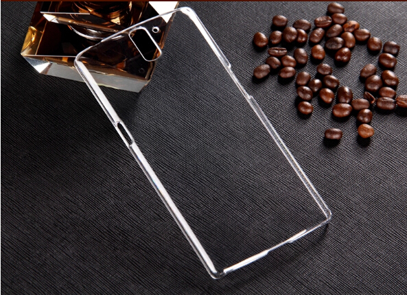 Transparent Back Cover Skin Clear PC Case Ultra Thin cell phone case OnePlus One - New Style store