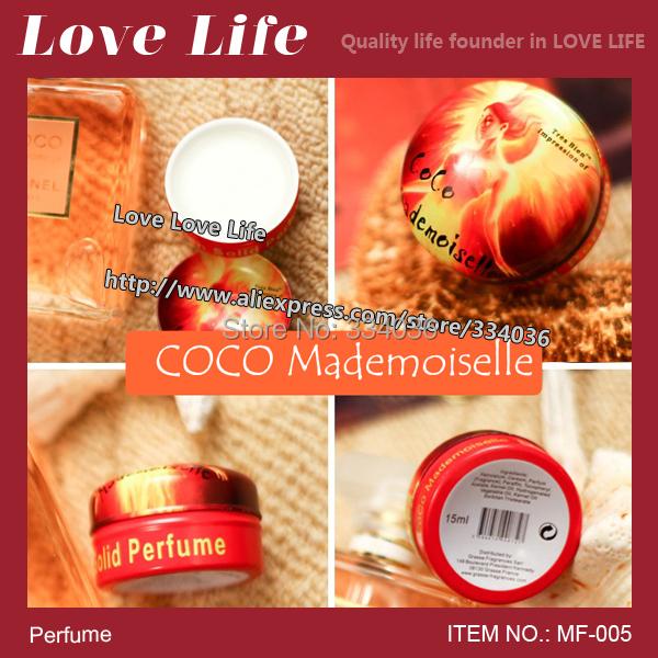 Free shipping!Grasse solid perfume co co mademoiselle lady perfumes orange women hard parfum MF-005(China (Mainland))