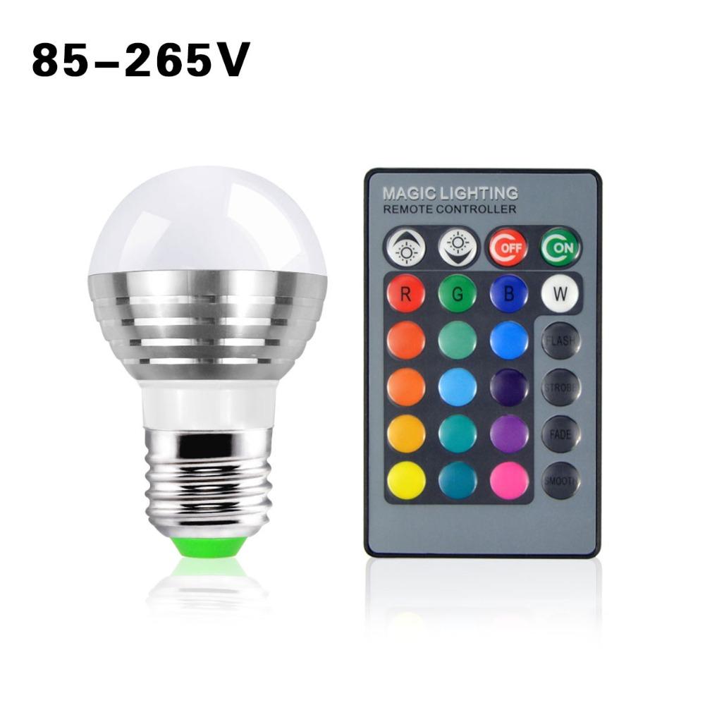 1Pcs Lovely 16 Colors RGB Christmas Decor Atmosphere LED Night light E27 5W 110V - 220V LED lamp Spotlight Bulb + IR Remote(China (Mainland))