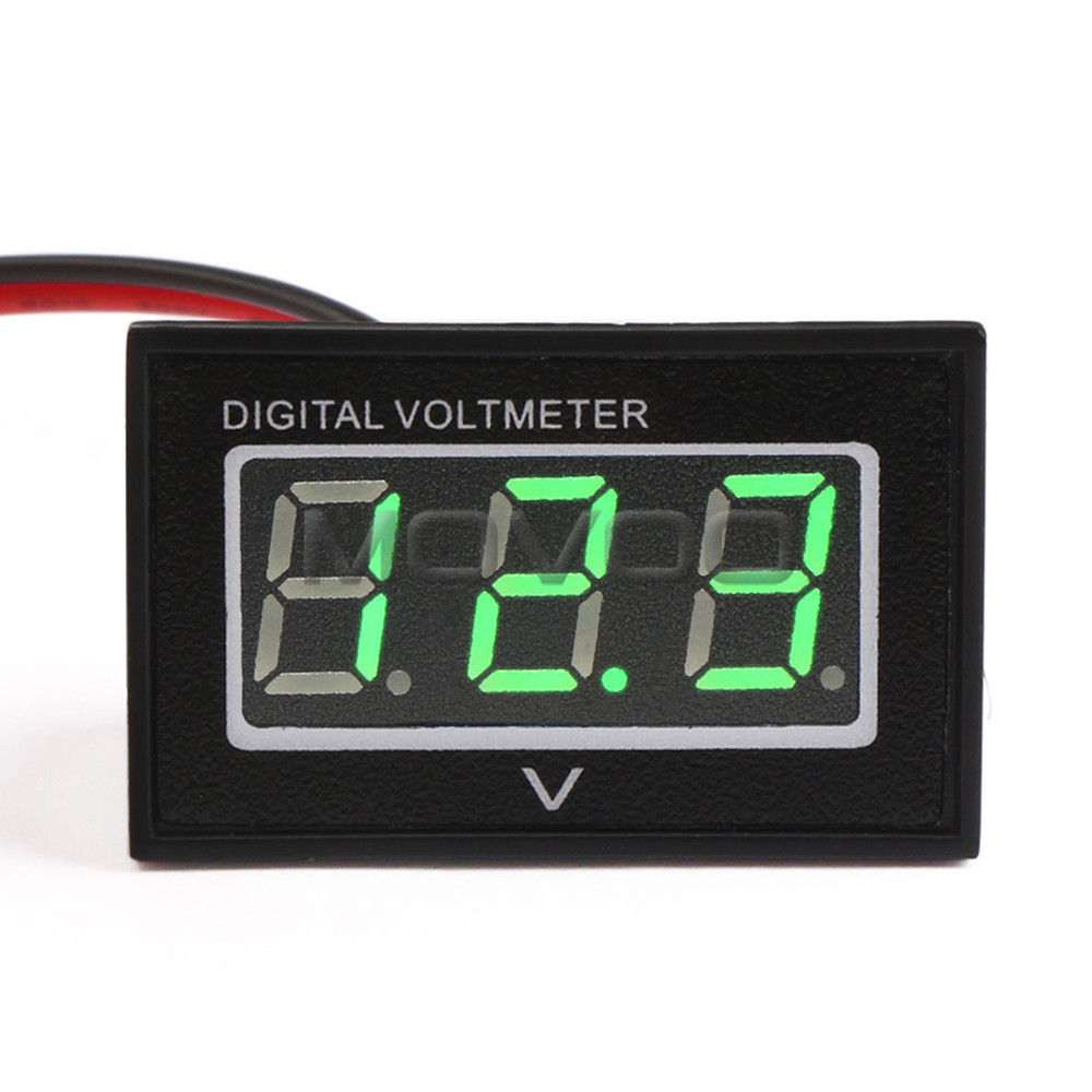 Вольтметр Voltage Meter 2.7 30V DC 12V 24V . . Digital Voltmeter new 3 in 1 digital led car voltmeter thermometer auto car usb charger 12v 24v temperature meter voltmeter