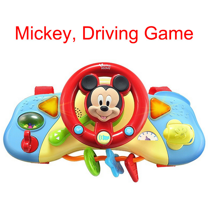 2016 New Baby Educational Toys Steering Wheel Little Baby Driver Wonderful Music and Lights 0-1 year old Child Learning Kids Toy(China (Mainland))