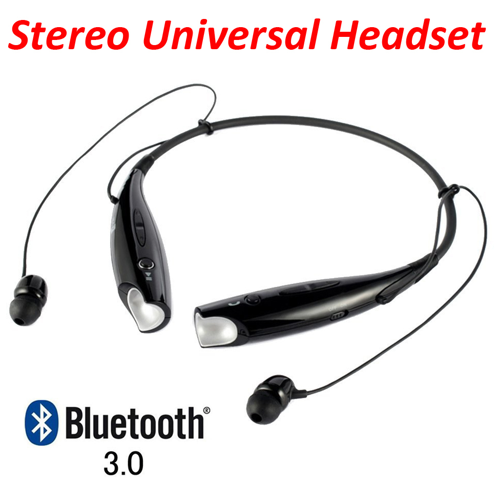 Universal Wireless Music A2dp Stereo Bluetooth Headset Vibration Neckband Style Headphones Earphone Headphone for Cellphones(China (Mainland))