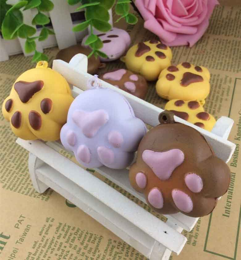 new arrival squishy toys bear paw squishies buns mobile cell phone bags strap Charm squishies gift wholesales 20pcs/lot(China (Mainland))
