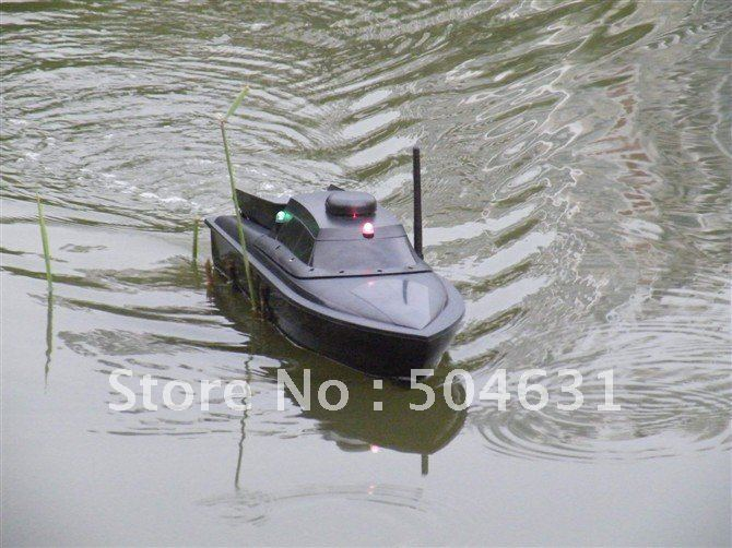 Jabo-1AL RC/ Remote Control Bait Fishing Boat Black work 200metres 3hours LI-PO battery(China (Mainland))