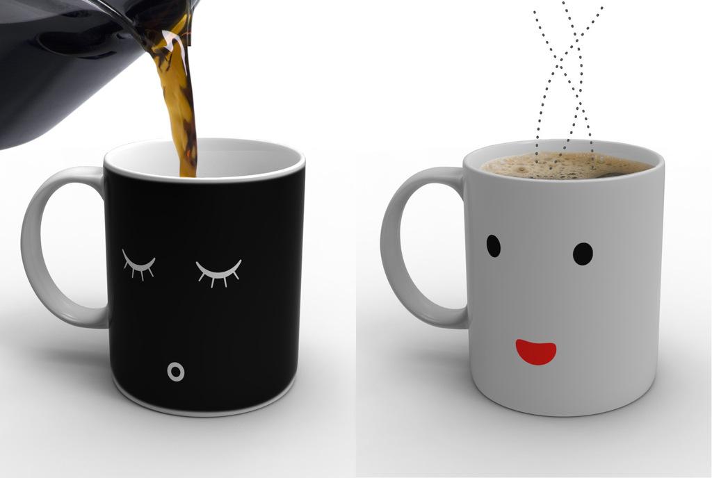 Wholesale Ceramic Coffee Mug Color Change Mug Heat Sensitive Magic