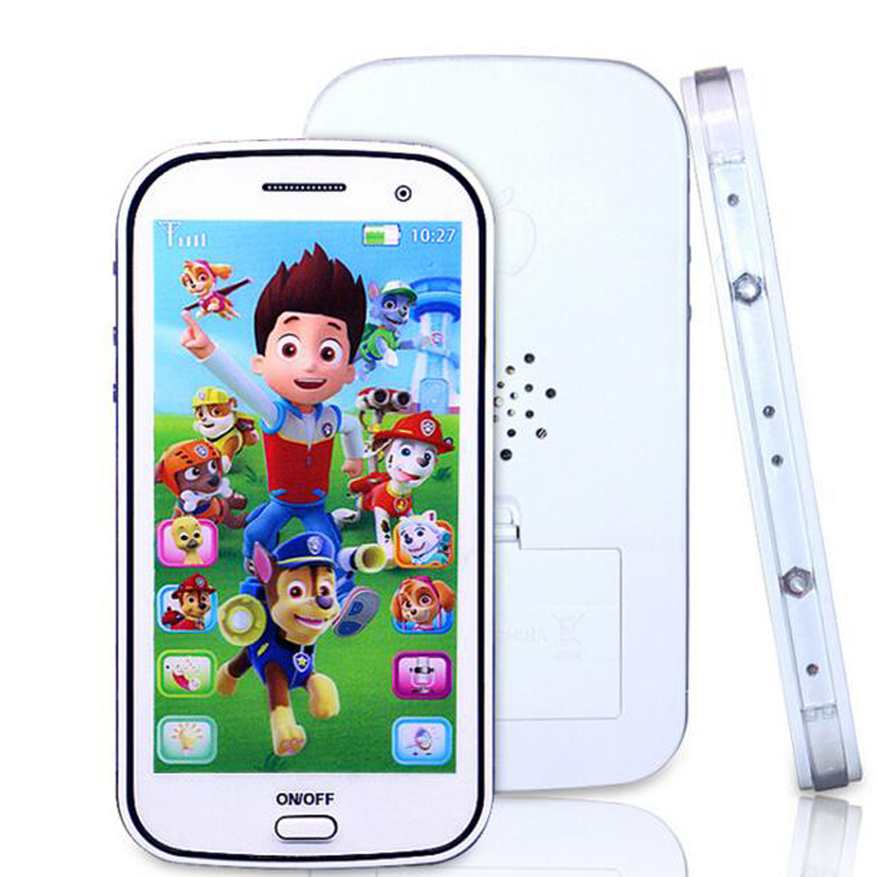 English/Russian children toy phone with light touch-screen music cell phone toys Music Recording Educational Toys WJ307(China (Mainland))