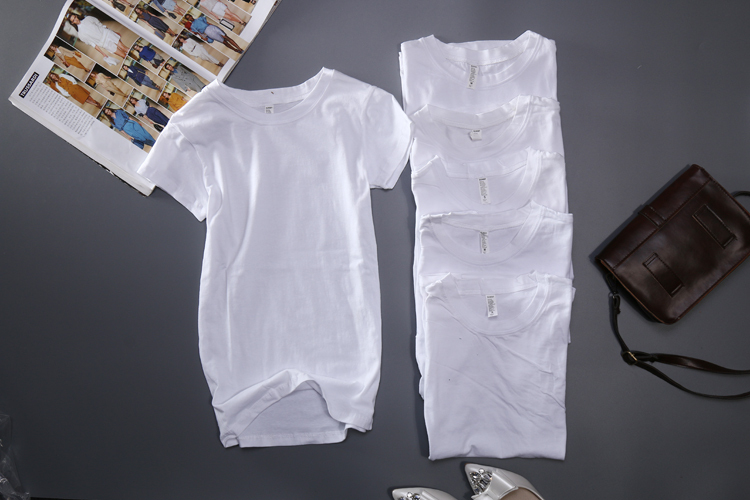 2015 hot sales girls white tshirts blank tees 95 cotton 5 for Cotton and elastane t shirts