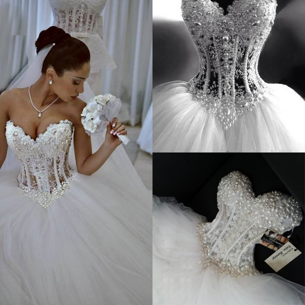 Wedding Dress Lace Corset Top : Aliexpress buy luxury sheer lace wedding dress