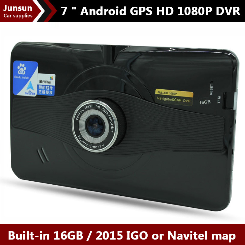 "New 7 "" Car GPS Navigation Android wifi 1080P Car dvr Recorder Europe Navitel map Sat Nav vehicle gps Navigator Built-in 16GB(China (Mainland))"