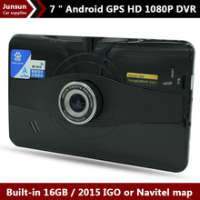 New 7 inch GPS Navigation Android 4.4&Radar Detector&DVR Recorder Camera Free Map FM WIFI 8GB