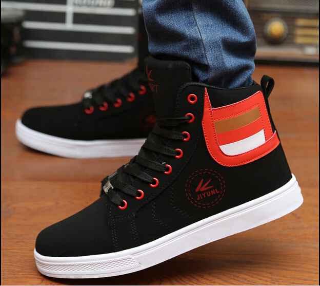2015 New Hot Sale Men British Style Ankle Boots Fashion Autumn Spring Ankle Boots Casual Sports