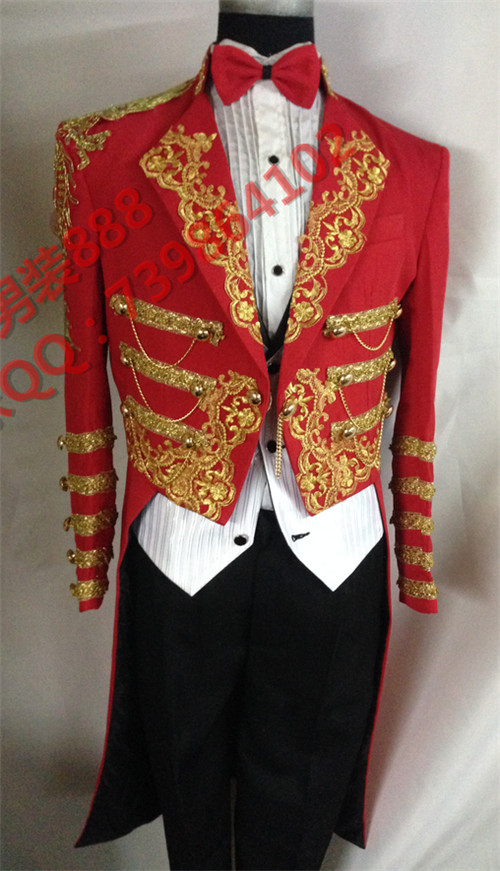 red tuexdo magic wedding party grom men custom man long jacket for singer dancer lounge male stage  paragraph star costumesОдежда и ак�е��уары<br><br><br>Aliexpress