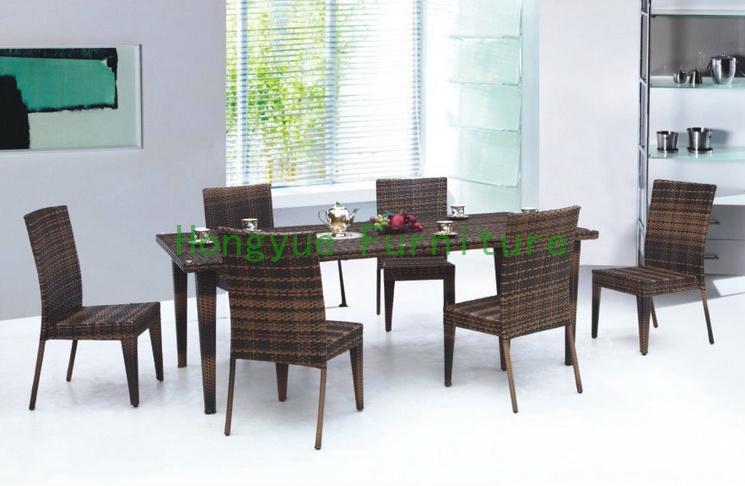 de Producto 1653095004 Mimbre muebles de comedor con vidrio templado