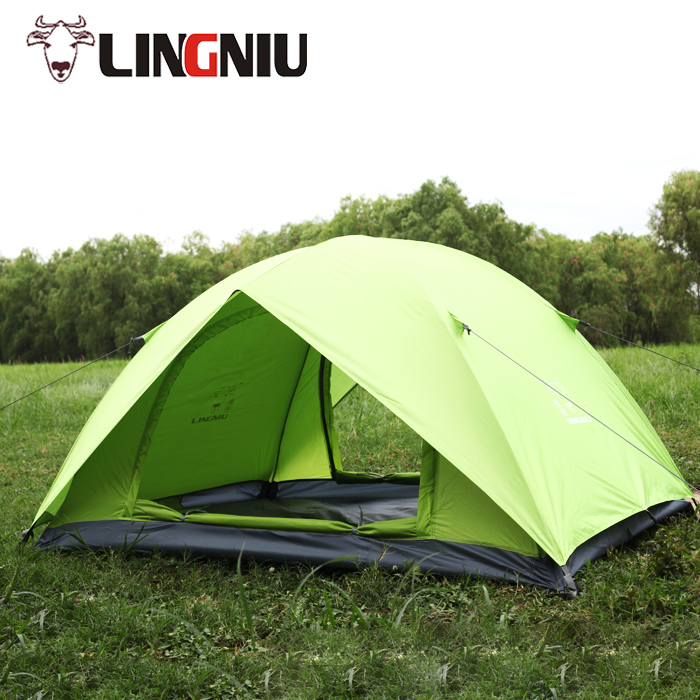 1-2 person construction based on need  tent outdoor double layer camping tent anti-uv beach tents