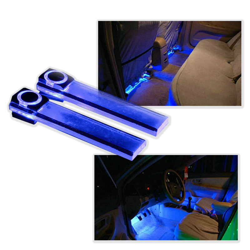 buy 4led 12v car styling interior dash floor foot decoration light lamp. Black Bedroom Furniture Sets. Home Design Ideas