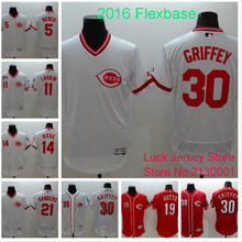 2016 New Cincinnati Reds Jerseys,30 Ken Griffey Jr Jersey,11 Barry Larkin,17 Chris Sabo,14 Pete Rose,21 Deion Sanders Jerseys(China (Mainland))