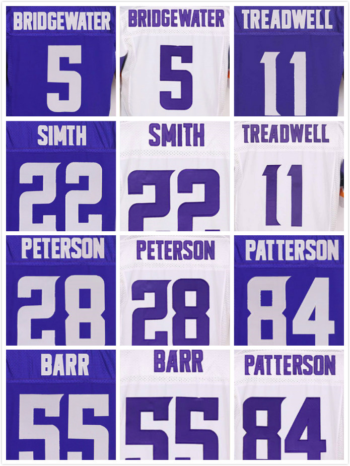 Stitched 11 Laquon Treadwell 5 Teddy Bridgewater 22 Harrison Smith 14 Stefon Diggs 28 Adrian Peterson 55 Anthony Barr Jerseys(China (Mainland))